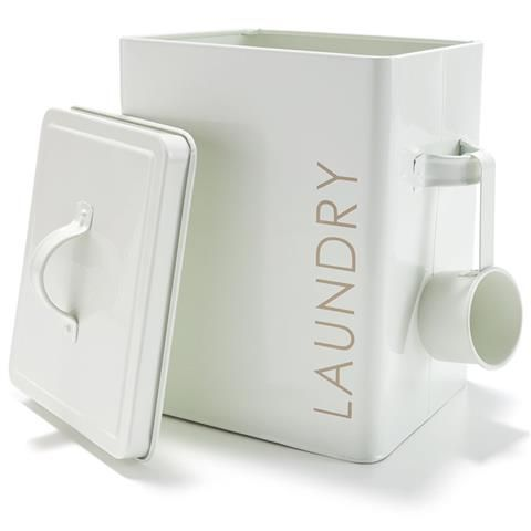 Tin Laundry Box White