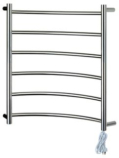Heated Towel Rail Corner 6 Bar RHP