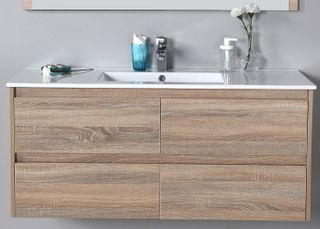 Leo 1200 WH Vanity Cabinet Only