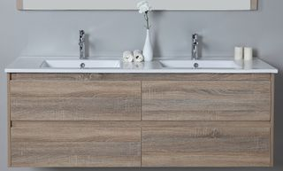 Leo 1500 WH Vanity Cabinet Only