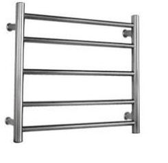 Heated Towel Rail Round 5 Bar Dual Wire