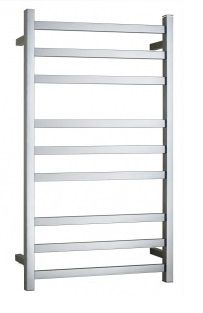 Heated Towel Rail Square 9 Bar Dual Wire
