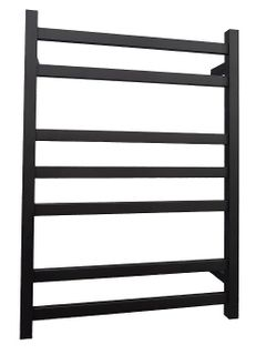 Heated Towel Rail Square 7 Bar Black Dua