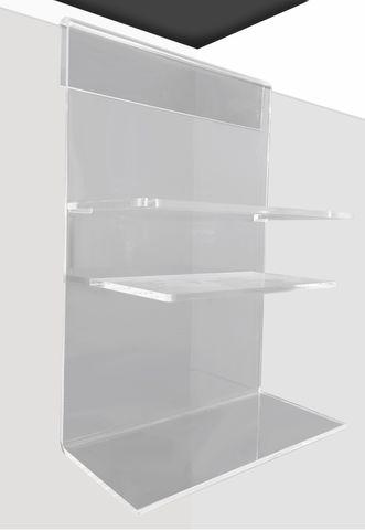 Single Shelf Easy Clean Acrylic Caddy /W