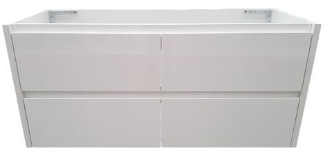 Amber 1200 GLOSS WHITE Wall Hung Vanity Cabinet Only