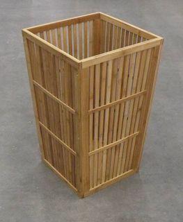 Bamboo Laundry Basket 40x40x65cm