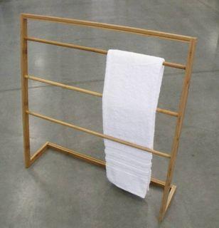 Bamboo Towel Rack 84.5x22.5x85cm