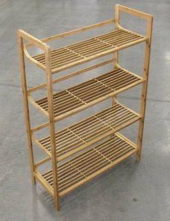 Bamboo 4 Tier Shelfstand 70x30x105cm