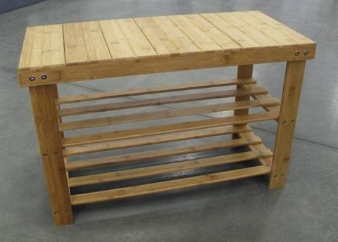 Bamboo Double Footstool 70x32x45cm