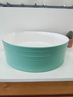 Eden White/Reef Above Counter Basin 395x395x130mm