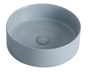 Clyde Blue Steele Above Counter Basin 395x395x130m