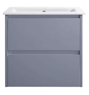 Amber 600 MATTE GREY Wall Hung Vanity