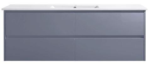 Amber 1500 MATT GREY Wall Hung Vanity Cabinet Only