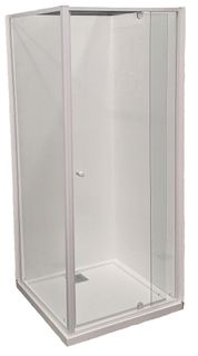Splendour 900x900 Glass Shower Screen Set Matte White
