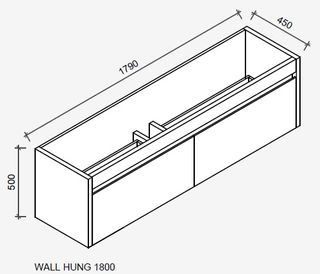 Derwent 1800 Wall Hung Tas Oak Cabinet Only