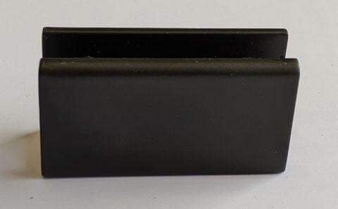 U-Bracket Matt Black Fixed Panel Clip