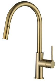 Star Mini PVD Brushed Bronze 35mm Pull Out Kitchen Mixer