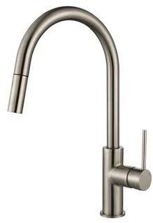 Star Mini PVD Brushed Nickel 35mm Pull Out Kitchen Mixer