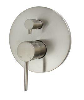Star Mini PVD Brushed Nickel 35mm Shower Divertor