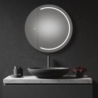 Pearl 900 Round Mirror Cabinet