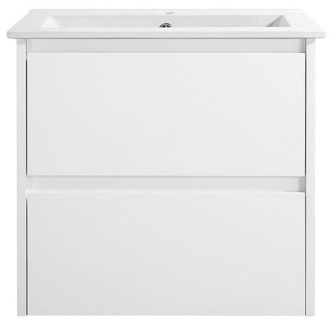 Amber 600 GLOSS WHITE Wall Hung Vanity Cabinet Only