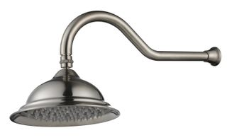 Bordeaux Brushed Nickel Shower Head and Arm