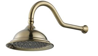 Bordeaux Brushed Bronze Shower Head and Arm