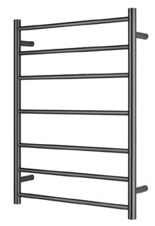 Bianca Towel Ladder 7 Rung Round Gun Metal Grey Unheated