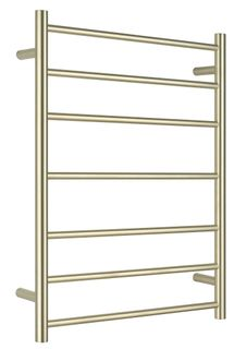 Bianca Towel Ladder 7 Rung Round Brushed Gold Unheated