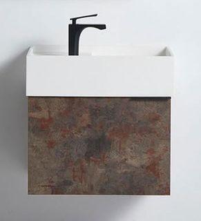 Rimini Rusty 600w x 420d x 420h Vanity Cabinet Only