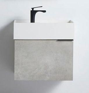 Rimini Concrete 600w x 420d x 420h Vanity Cabinet Only