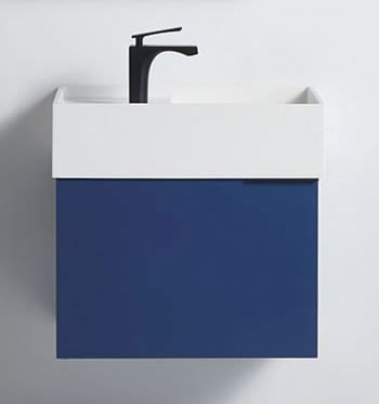 Rimini Navy Blue 600w x 420d x 420h Vanity Cabinet Only
