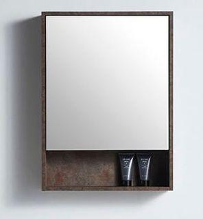 Rimini Rusty 550w x 150d x 750h Mirror Cabinet