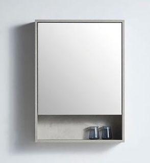 Rimini Concrete 550w x 150d x 750h Mirror Cabinet