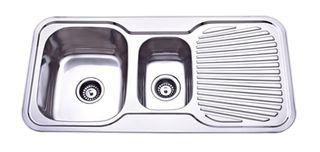 Sink Rnd Cnr 980 11/2 Left Hand Bowl
