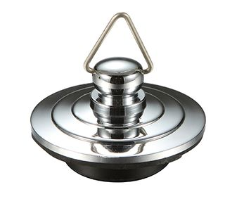 Chrome Plated Metal Plug 40mm