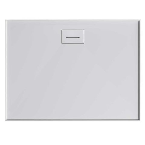 Metro 1000x1000 Polymarble Shower Base Rear Outlet