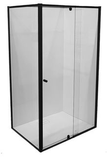 Splendour 1000x1000 Glass Shower Screen Set Matte Black