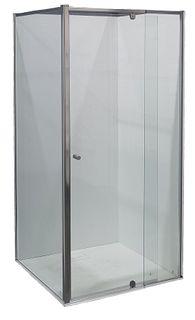 Splendour 800x800 Glass Shower Screen Set Chrome