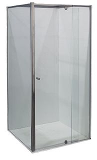 Splendour 900x900 Glass Shower Screen Set Chrome