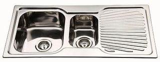 Sink Sq Cnr 980 1 1/2 Left Hand Bowl