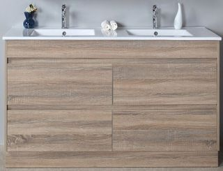 Leo 1500 Double Bowl Vanity Cabinet Only