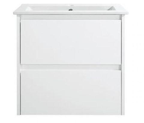Amber 600 MATT WHITE Wall Hung Vanity Cabinet Only