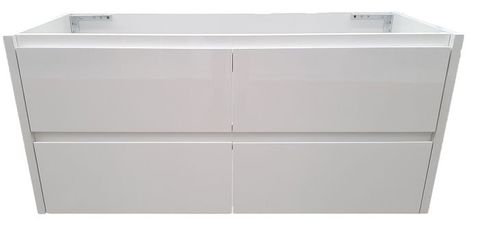 Amber 1200 MATT WHITE Wall Hung Vanity Cabinet Only