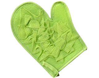 Green Mesh Massage Glove