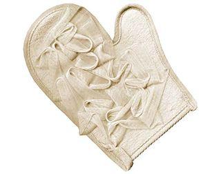 Ivory Mesh Massage Glove