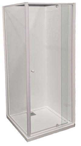 Splendour 900x900 Shower Screen Set Matte White
