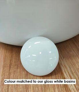 P & W White Ceramic Cover Suit 32mm