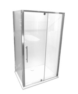 Glastonbury 1200x900 Glass Shower Screen Unit - SMC Base