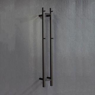 V2 Black Vertical Heated Towel Rail